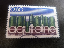 Région - Aquitaine - 60c. - Brun Carminé, Vert Foncé Et Outremer - Oblitéré - Année 1976 - - Gebraucht