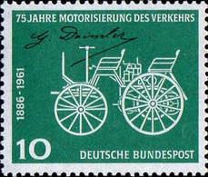 RFA Poste N** Yv: 235/236 Yv:0,9 Euro 75.Anniversaire De L'Automobile (Thème) - Auto's