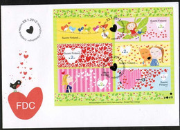 2012 Finland, I Heart You FDC. - FDC