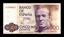 España Spain 5000 Pesetas 1979 Pick 160 Serie 1J MBC VF - [ 4] 1975-… : Juan Carlos I
