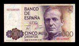 España Spain 5000 Pesetas 1979 Pick 160 Serie 2Z MBC VF - [ 4] 1975-… : Juan Carlos I