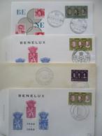 Lot De 4 FDC BENELUX - 1306 - 1961-70