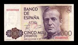 España Spain 5000 Pesetas 1979 Pick 160 Serie 3E MBC VF - [ 4] 1975-… : Juan Carlos I