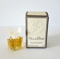 Miniatures De Parfum  OSCAR DE LA RENTA  EDT  4 Ml    + Boite - Miniatures Femmes (avec Boite)
