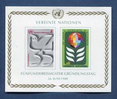 ⭐ Nations Unies - Vienne - YT Bloc N° 1 ** - Neuf Sans Charnière - 1980 ⭐ - Blocks & Kleinbögen