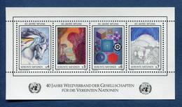 ⭐ Nations Unies - Vienne - YT Bloc N° 3 ** - Neuf Sans Charnière - 1986 ⭐ - Blocks & Kleinbögen