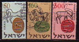 ISRAEL - 1957 - Nouvel An - 50,160,300 P Obl. Sans Tabs - Yv 121/23 - Gebraucht (ohne Tabs)