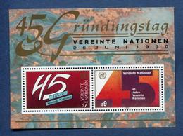 ⭐ Nations Unies - Vienne - YT Bloc N° 5 ** - Neuf Sans Charnière - 1990 ⭐ - Blocks & Kleinbögen