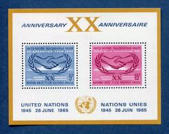 ⭐ Nations Unies - New York - YT Bloc N° 3 ** - Neuf Sans Charnière - 1965 ⭐ - Blocks & Kleinbögen