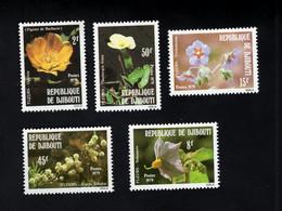 1374671759 1979 (XX) SCOTT 498 502 POSTFRIS MINT NEVER HINGED - FLOWERS FLORA - Djibouti (1977-...)