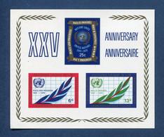 ⭐ Nations Unies - New York - YT Bloc N° 5 ** - Neuf Sans Charnière - 1970 ⭐ - Blocks & Kleinbögen