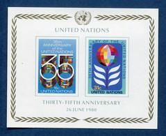⭐ Nations Unies - New York - YT Bloc N° 7 ** - Neuf Sans Charnière - 1980 ⭐ - Blocks & Kleinbögen