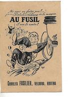 Carte Pub Illustrée1931 / 80 AMIENS / C FUSILER , Velours AU VIEUX FUSIL / Timbre Expo Coloniale 270 - Gebraucht