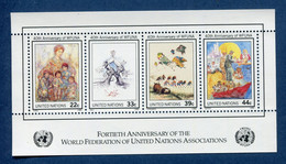 ⭐ Nations Unies - New York - YT Bloc N° 9 ** - Neuf Sans Charnière - 1986 ⭐ - Blocks & Kleinbögen