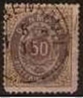Denmark - 1875 Issue 50 Ore Used Sc 33 - Gebraucht