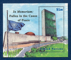 ⭐ Nations Unies - New York - YT Bloc N° 18 ** - Neuf Sans Charnière - 1999 ⭐ - Blocks & Kleinbögen