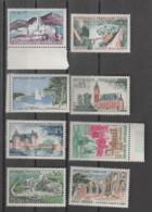FRANCE / 1961 / Y&T N° 1311/1318 ** : Série Touristique (8 TP) X 1 Série - Nuovi