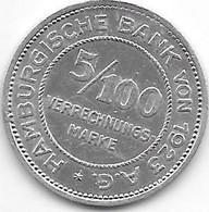 Notgeld  Hamburg 5/100 1923 Alu 5706.3 - Sonstige