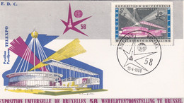 BELGIO - BUSTA FDC - EXPOSITION UNIVERSELLE - BRUXELLES - 1958 - 1951-60