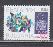 Bulgaria 2000 - 50 Years Of The European Convention On Human Rights, Mi-Nr. 4492, MNH** - Ungebraucht