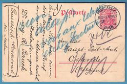 """Ep 10pfg Càd PREUSSISCH-/MORESNET /1913 Pour Ostende + """"rien ... Voir Aux Rebuts Et Chez Facteurs"""" - Brieven En Documenten"""