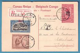 Ep 60/10c + 50c + 25c Recommandé De LISALA /1926 Pour Etterbeek - 1923-44: Brieven
