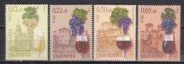 Bulgaria 2001 - Wine And Wine-growing Regions, Mi-Nr. 4505/08, MNH** - Ungebraucht