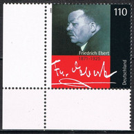 [C0703] Alemania 2000, LXX Aniversario Muerte De Friedrich Ebert (MNH) - Ungebraucht