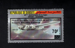 1374733769 1988 (XX) SCOTT C240 POSTFRIS MINT NEVER HINGED - AIR RACE ROLAND GARROS - Djibouti (1977-...)