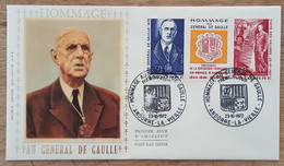 ANDORRE - FDC 1972 - YT N°225A - HOMMAGE AU GENERAL DE GAULLE - FDC