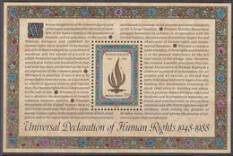 UNO NEW YORK  Block 10, Postfrisch **, 40 Jahre Menschenrechte, 1988 - Blocks & Kleinbögen