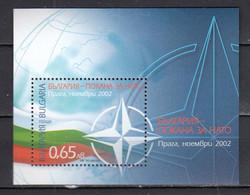 Bulgaria 2002 - Participation Of Bulgaria At The NATO Summit Conference, Prague, Mi-Nr. Block 256, MNH** - Ungebraucht