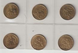 6 Pièces De 1 Franc Chambre De Commerce - H. 1 Franc