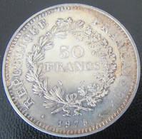 France - Monnaie 50 Francs Hercule 1975 En Argent - SUP/SPL - M. 50 Francs