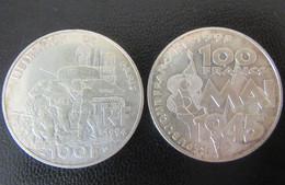 France - 2 Monnaies 100 Francs Libération Paris 1994 Et 100 Francs 8 Mai 1945 En Argent - SUP/SPL - N. 100 Francs