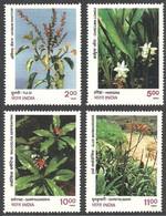 India 1997 MNH 4v, Medicinal Plants, Herbal Medicines - Médecine