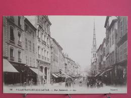 69 - Villefranche Sur Saône - Rue Nationale - CPA 1917 En Très Bon état - R/verso - Villefranche-sur-Saone