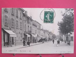 Visuel Pas Très Courant - 69 - Saint Fons - Rue Carnot - CPA Animée 1913 En Très Bon état - R/verso - Other Municipalities