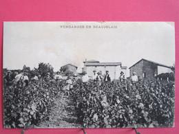 69 - Vendanges En Beaujolais - CPA Animée En Bon état - R/verso - Unclassified