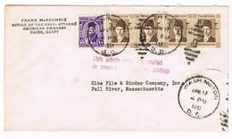 Lettre Vers Les USA  Avec Timbres 189-228 - Briefe U. Dokumente