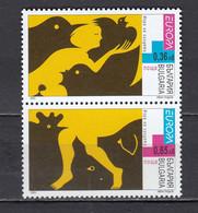 Bulgaria 2003 - EUROPA: Poster Art, Mi-Nr. 4593/94, MNH** - Ungebraucht