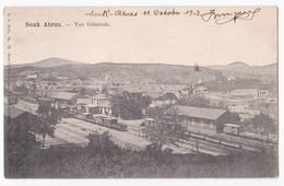 CPA Souk Ahras , Vue Generale .Biskra Constantine Circulé En 1903, - Souk Ahras