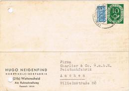 42232. Entero Postal Comercial WATTENSCHEID (Alemania Federal) 1951. Stamp NOTOPFER Berlin. - Postkarten - Gebraucht