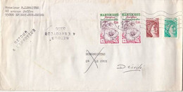 FLOWERS FROM MARTINIQUE, SABINE, STAMPS ON COVER, 1979, FRANCE - Briefe U. Dokumente