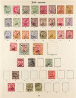 JIND 1900-1934 FINE USED COLLECTION On Pages, All Different, Includes 1900-04 Set, 1903-09 Vals To 4a, 8a & 1r, 1913 Set - Ohne Zuordnung
