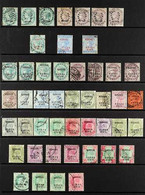NABHA OFFICIALS. 1885-1943 USED COLLECTION On Stock Pages With Shade Interest That Includes QV Ranges To 12a, KEVII Rang - Ohne Zuordnung
