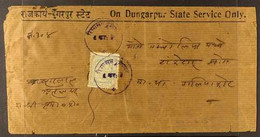 """DUNGARPUR 1933-43. OFFICIAL COVER Printed """"On Dungarpur State Service Only"""" Bearing A Native Manuscript Address & 1933 1 - Ohne Zuordnung"""