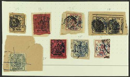 DUTTIA (DATIA) 1899-1920 USED COLLECTION On A Small Page, Most Stamps On Small Pieces, Includes 1899-1906 ¼a, 1a (x3 Inc - Ohne Zuordnung