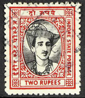INDORE 1940-46 2r Black & Carmine, SG 42, Very Fine Used, Fresh & Scarce. For More Images, Please Visit Http://www.sanda - Ohne Zuordnung