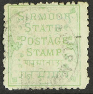 SIRMOOR 1878-80 1p Pale Green Wove Paper, SG 1, Fine Used, Very Scarce. For More Images, Please Visit Http://www.sandafa - Ohne Zuordnung